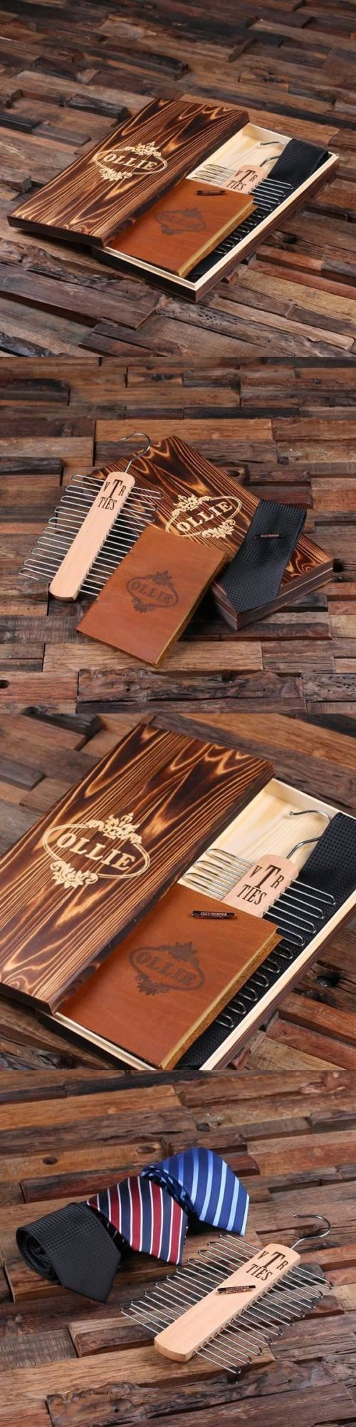 Tie Clasps and Tacks 10298: Personalized Mens Accessories Gifts Set With Wooden Box   Engraved Tie, Tie Clip -> BUY IT NOW ONLY: $59.99 on eBay!
