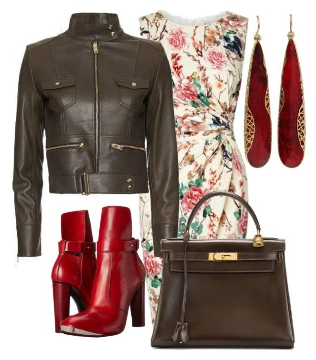 """""""Untitled #10"""" by lchrumka on Polyvore featuring Lipsy, IRO, COSTUME NATIONAL, Hermès, Yossi Harari, women's clothing, women, female, woman and misses"""