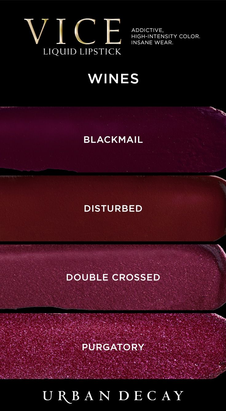 Looking for bold, vampy lips? Layer on the intense color of Vice Liquid Lipstick.