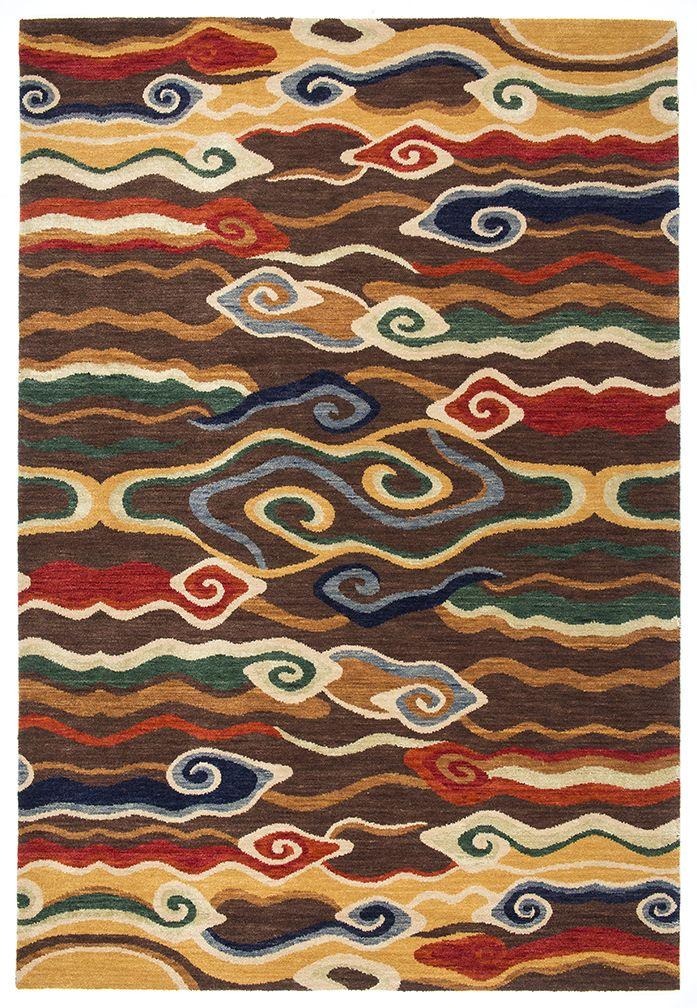 Swirling Clouds is a modern interpretation of traditional Tibetan designs