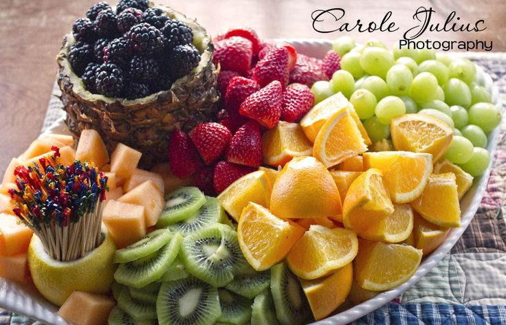 beautiful fruit platters | fruit platter for Carole Knits