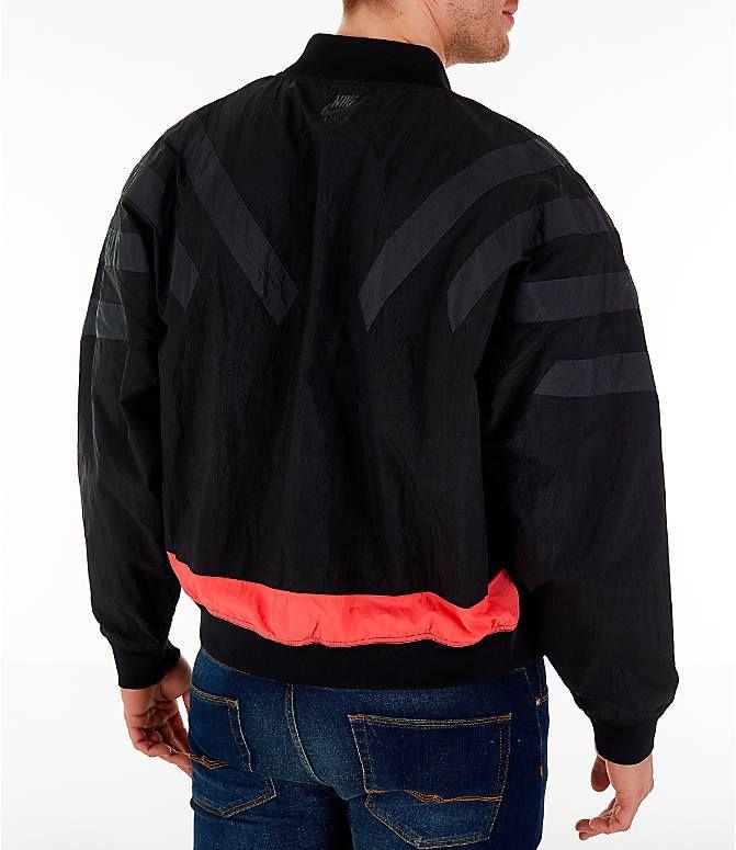 ae733810b890 Back Right view of Men s Air Jordan Retro 6 Legacy Nylon Jacket in Black