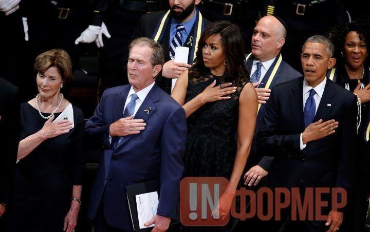 В США во время панихиды «танцуют на костях» и трясут за руку соседок (видео, фото) http://ruinformer.com/page/v-ssha-vo-vremja-panihidy-tancujut-na-kostjah-i-trjasut-za-ruku-sosedok-vide  На панихиде по полицейским, расстрелянным в Далласе в ходе демонстрации против насилия, экс-президент США Джордж Буш-младший танцевал во время исполнения «Боевого гимна Республики». Это вызвало бурную реакцию пользователей социальных сетей.Траурные мероприятия проходили в Техасе. Джордж Буш стоял в первом…