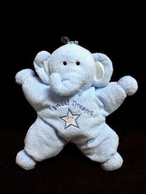 new kids preferred blue star elephant sweet dreams plush baby toy stuffed animal  kidspreferred