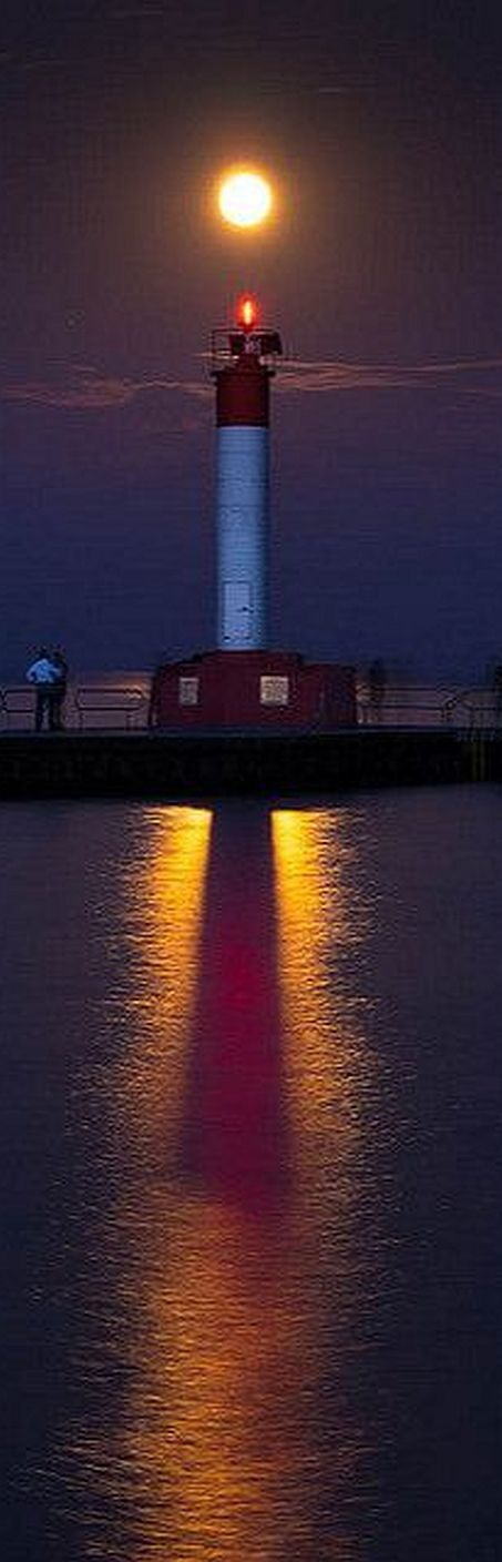 #moon dawns over the #lighthouse #photo by Robsimages on Flickr    Giant TCX SLR
