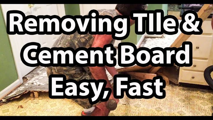 How to remove tile and cement backer board the easy way