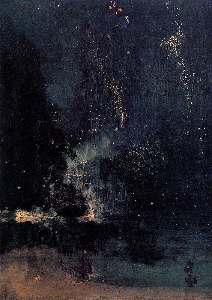 James Whistler - Nocturne in Black and Gold: The Falling Rocket, 1872-1877, oil on canvas