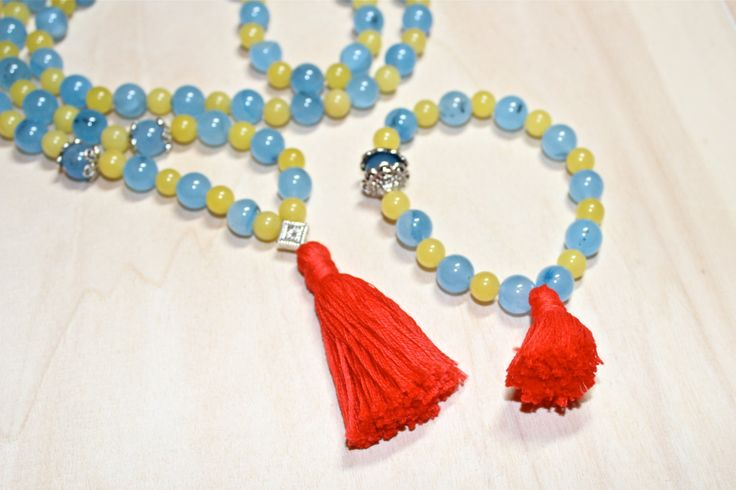 NSK Summer Fest 108 + 21 Mala by NSKHandCraftedDesign on Etsy