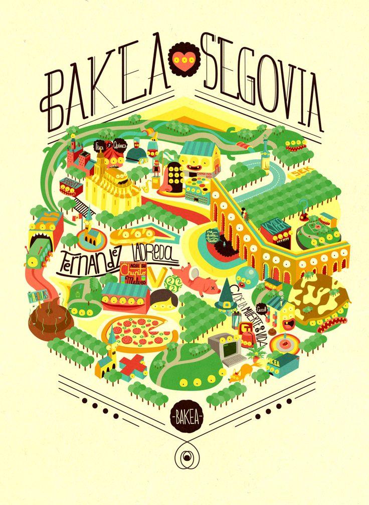 BAKEA: Segovia map illustration self promotion