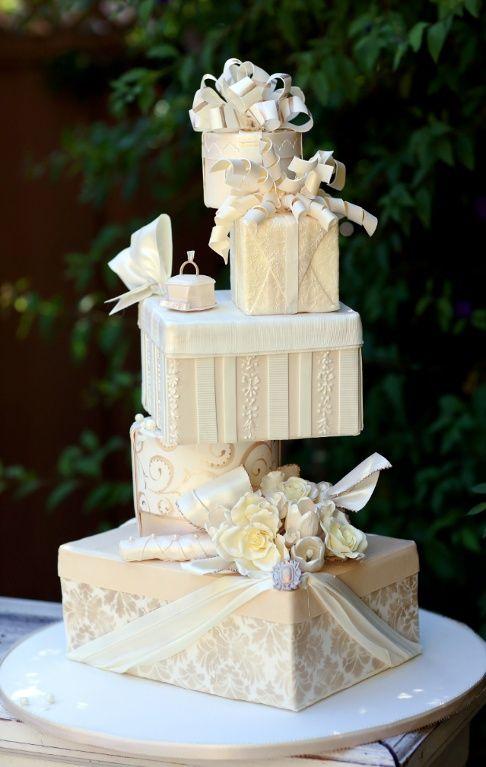 Edible Art. 'Wedding Presents' Cake