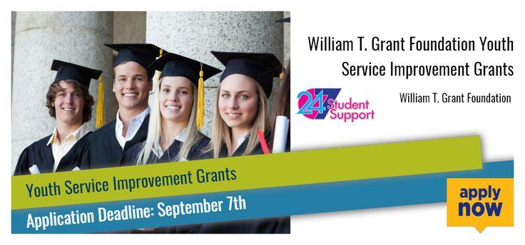 William T. Grant Foundation Youth Service Improvement Grants