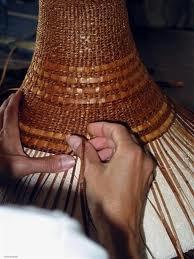 weaving a cedar hat