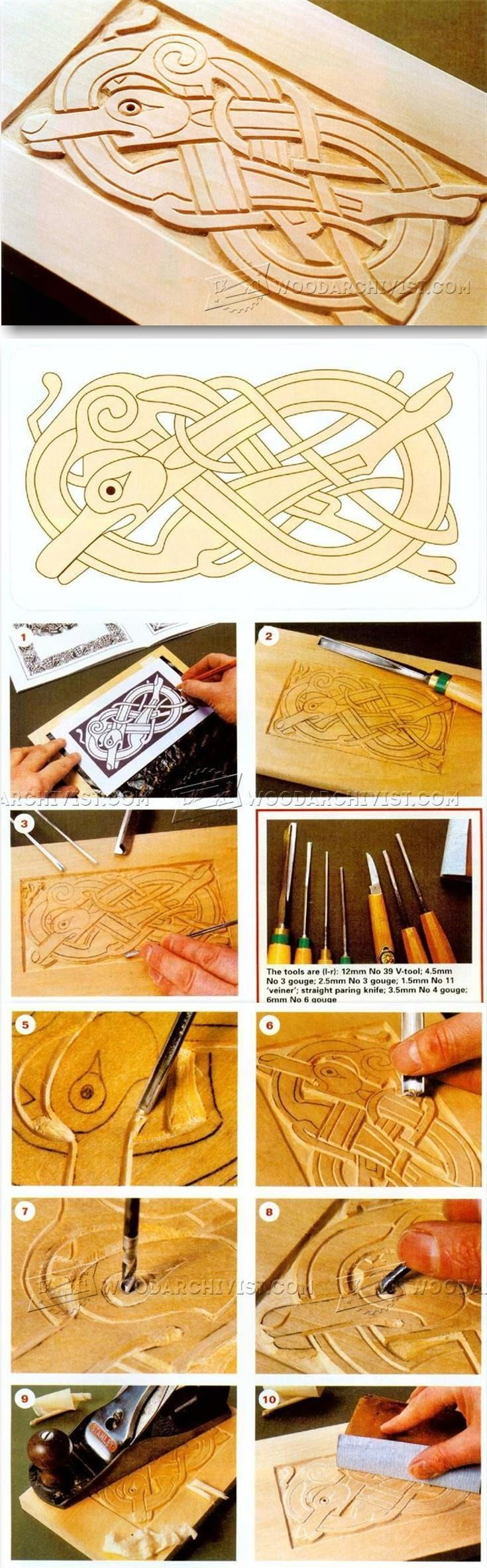 Celtic Wood Carving - Wood Carving Patterns and Techniques | WoodArchivist.com