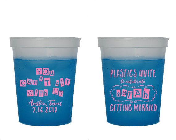 Bachelorette Party Mood Cups Color Changing Cups Plastics Unite You Can't Sit With Us Bachelorette Cups Party Cup Fun Party Cups 1359 by SipHipHooray