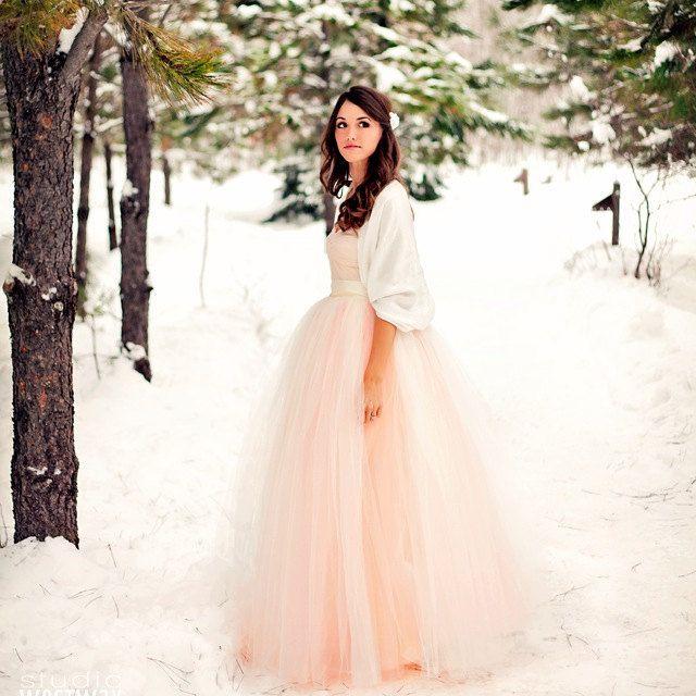 Full length blush tulle full length skirt. by TutusChicBoutique, $375.00