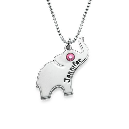 Lucky Elephant Necklace with Engraving