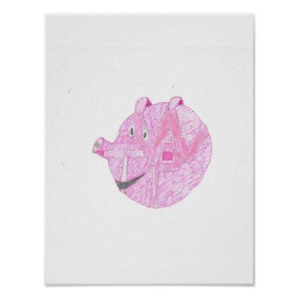pig wall poster - diy cyo personalize design idea new special custom