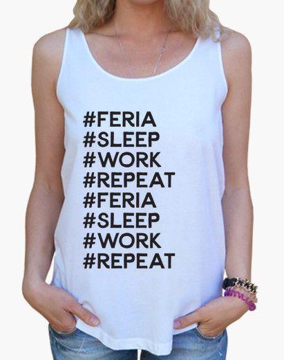 Camiseta mujer Feria Sleep Work Repeat