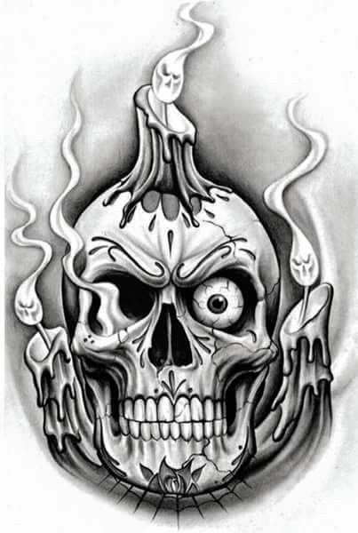 331 besten tattoo skulls totenk pfe bilder auf pinterest. Black Bedroom Furniture Sets. Home Design Ideas