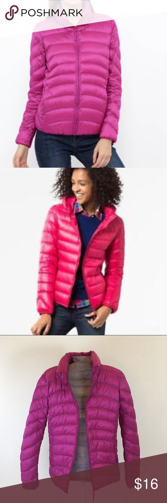 Uniqlo Down Puffer Jacket ❤️ Rhododendron colored Puffer: nylon shell, Genuine down full. Packable. Size small. Great condition. Retail $100. Uniqlo Jackets & Coats Puffers