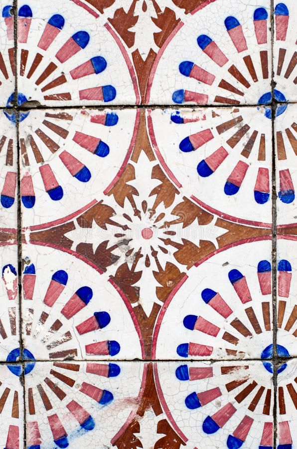 Photo About Colorful Vintage Spanish Style Ceramic Tiles Wall Decoration Image Of Tile Closeup 34792903