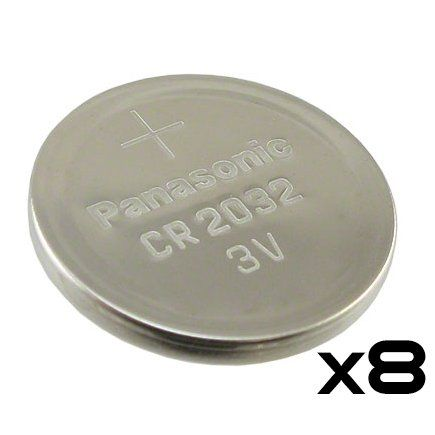 Pack of 8  Panasonic Cr2032 3v Lithium Coin Cell Battery Dl2032 Ecr2032 * Click on the image for additional details.