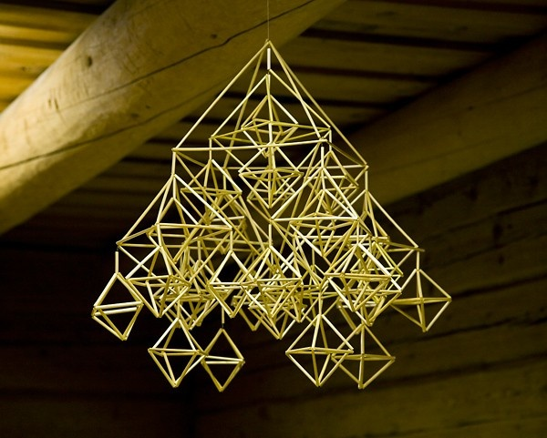 Himmeli, a traditional finnish christmas decoration