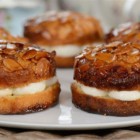 Try this Beestings recipe by Chef Matt Moran. This recipe is from the show The Great Australian Bake Off.
