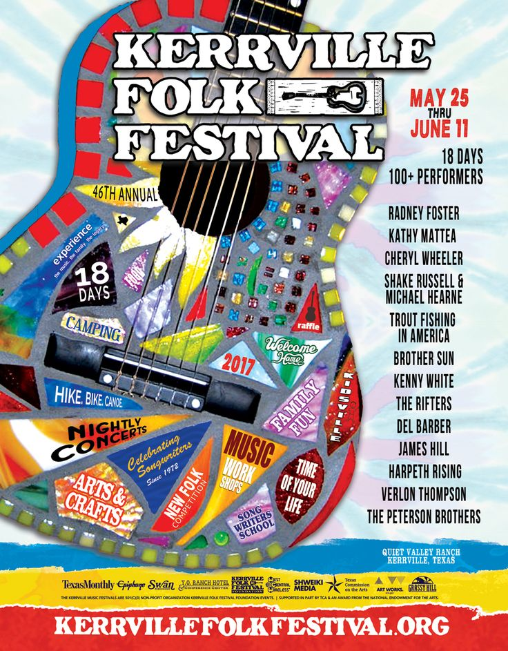 Kerrville Folk Festival. Recent Years Poster/Magazine/Advertising Theme  Designs