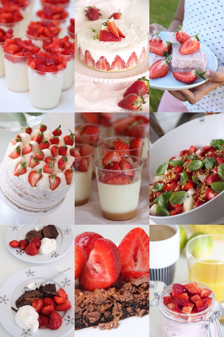 Gott med jordgubbar | Bakverk och Fikastunder