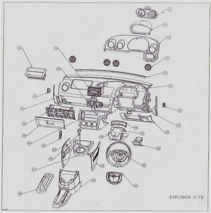 Ford Fiesta Interior Parts Diagram. Ford. Auto Parts