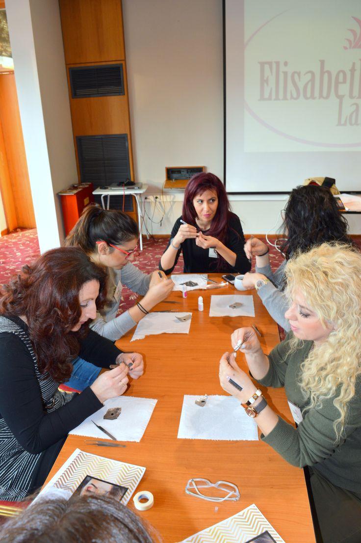 Elli Tsantarlioti as a teacher with her students. Thessaloniki!