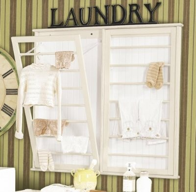 Laundry room must have - folding laundry rack from Ballard Designs