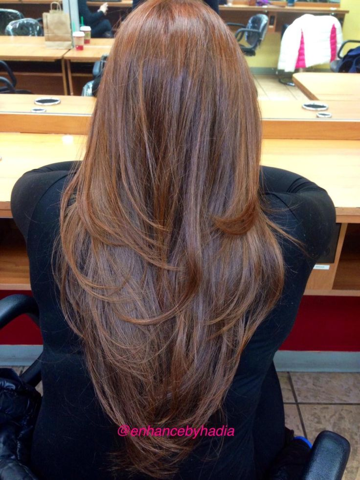 long hair with layers back view