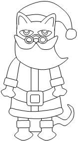 Printable Pete the Cat Christmas cut and paste  activity available at www.makinglearningfun.com.