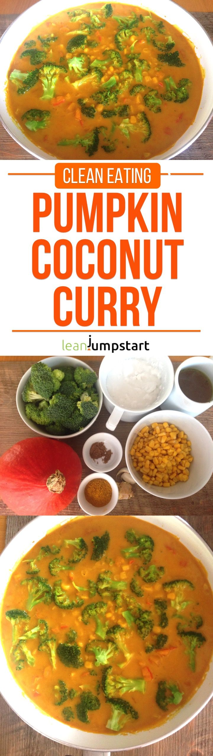 pumpkin coconut curry: a simple, filling - yet lean clean eating dish via @leanjumpstart