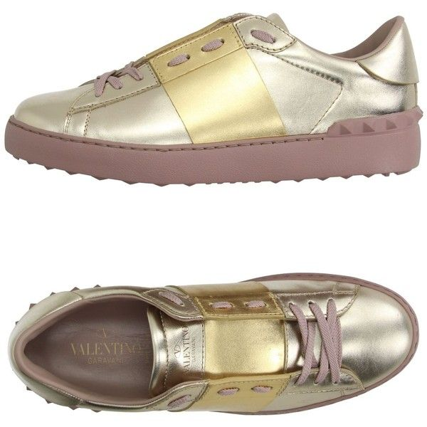 Valentino Garavani Low-tops & Sneakers (2 175 PLN) ❤ liked on Polyvore featuring shoes, sneakers, platinum, two tone shoes, animal print sneakers, valentino trainers, animal print shoes and leather sneakers