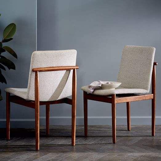 West Elm Framework Upholstered Dining Chair Second