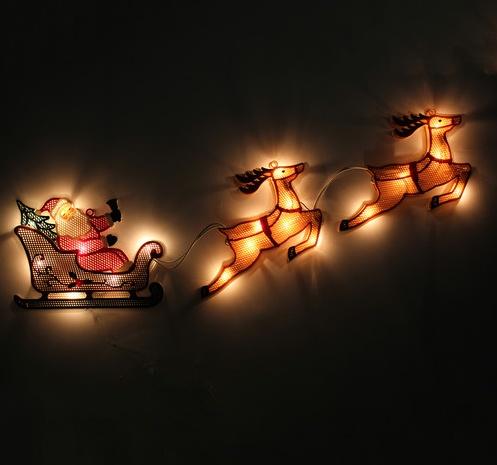 #father #christmas #lights #sleigh