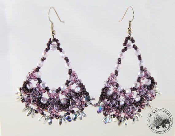 Orecchini effetto farfalla viola pallido di GoodQuillHunting