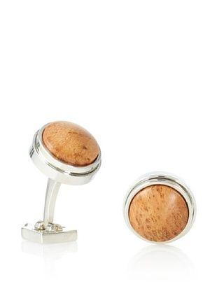 Ike Behar Cherry Burl Wood Cufflinks