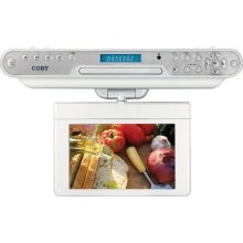 COBY KTFDVD1093 - DVD LCD TV kitchen clock radio $150 and up: Clocks Radios, Kitchen Clocks, Kitchens Clocks