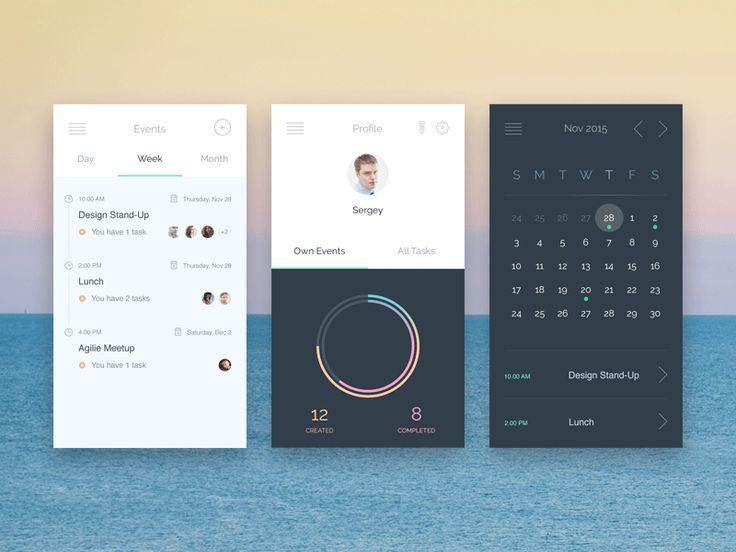 Events App | Craftwork – Thoroughly Handpicked UI Freebies