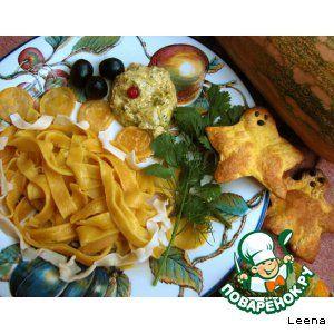 Лапша и хлебцы из тыквенного теста + пикантный тыквенный соус
