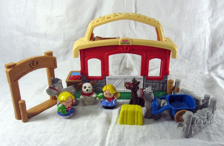 Fisher Price Little People Stable Farm Sounds Barn Animals Lot 2003 Horses Dog in Toys & Hobbies, Preschool Toys & Pretend Play, Fisher-Price   eBay