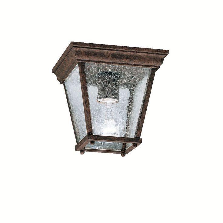 Kichler Lighting Transitional 1-light Tannery Bronze Outdoor Flush Mount, Brown (Aluminum)