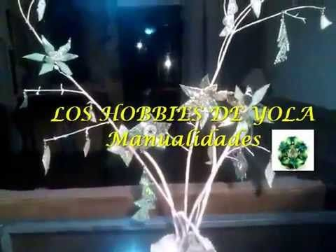Arreglo Navideño con CD's / Christmas centerpiece out of old cd's