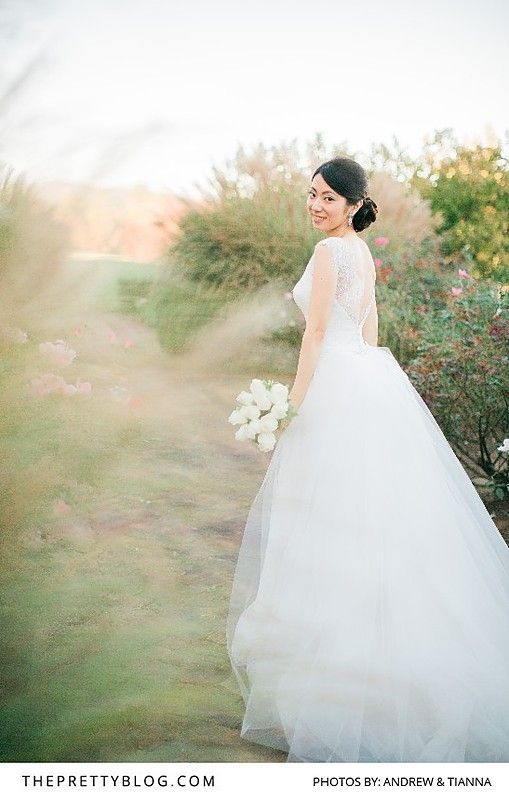 A Romantic Tulle Wedding Gown | Photography by Andrew & Tianna | Hair & Make Up by Charlottesville Makeup | Wedding Gown by Elisabetta Polignano