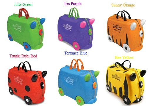 Melissa & Doug Trunki Rolling Kids Luggage Ride-on Suitcase. I love these
