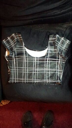 Tartan Black nana suit top